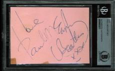 Paul McCartney Signed 2.5x3.5 Cut Signature Autographed BAS Slabbed