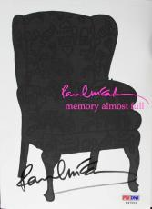 Paul Mccartney Signed 5.5x7.5 Memory Almost Full Cd Cover W/ Discs Psa #h47001