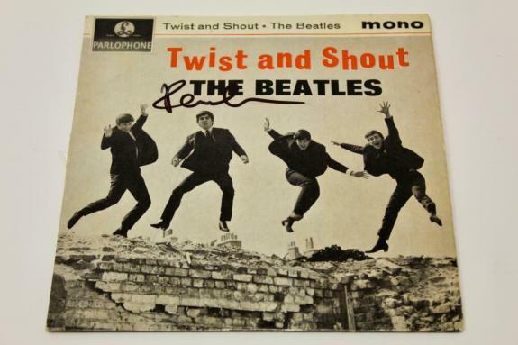 Paul Mccartney Signed 7' Album Vinyl Record - Twist And Shout The Beatles Acoa