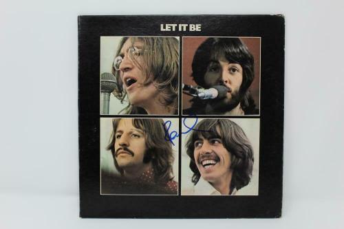 Paul Mccartney Signed Autograph Album Vinyl Record - The Beatles, Let It Be Acoa