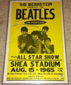 Paul Mccartney Signed Autograph Beatles 1965 Shea Concert Poster Psa/dna S14735
