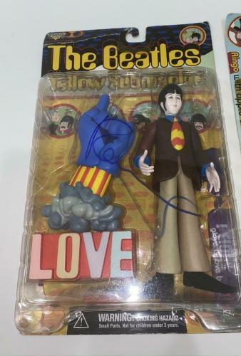 Paul Mccartney Signed Autograph Yellow Submarine Action Figure, Toy Rare W/ Jsa