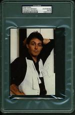 "Paul McCartney Signed Autographed 3.5"" x 5.5"" Photo Card PSA/DNA"