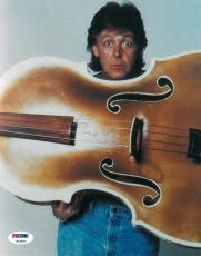 Paul McCartney Signed Beatles Authentic Autographed 8x10 Photo PSA/DNA #U14670