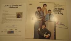 PAUL McCARTNEY Signed Beatles' YESTERDAY AND TODAY Album w/ PSA COA GRADED 10