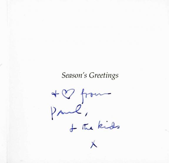 Paul Mccartney Signed Christmas Card Beatles Epperson Real & Psa/dna T11842