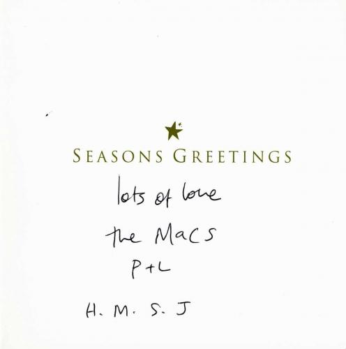 Paul Mccartney Signed Christmas Card Beatles Epperson Real & Psa/dna T11843
