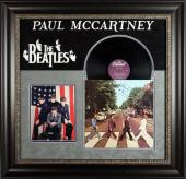 Paul McCartney Signed & Framed Abbey Road Album Cover PSA/DNA #H54732