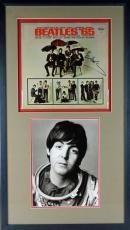 Paul Mccartney Signed Framed Beatles '65 Album Display PSA/DNA #T11882