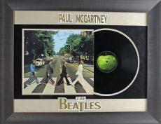 Paul McCartney Signed & Framed Beatles Abbey Road Album PSA #Z05387