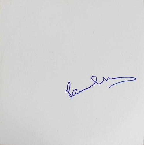 Paul McCartney Signed The Beatles White Album Cover W/ Vinyl JSA #Z53123