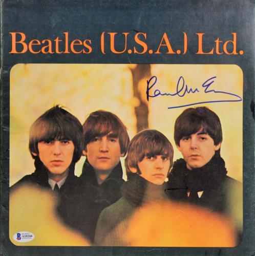 Paul McCartney Signed Vintage Beatles 1965 US Concert Tour Program BAS #A10244