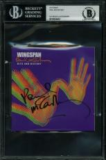 Paul McCartney Signed Wingspan Hits & History Cd Cover BAS Slabbed