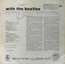 Paul Mccartney Signed With The Beatles Album Cover Psa/dna #v00354