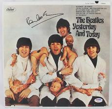 "Paul Mccartney Signed ""yesterday And Today"" Vinyl Album Jsa & Psa/dna Loa's"