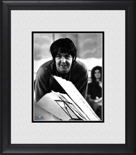 "Paul McCartney The Beatles Framed 8"" x 10"" Behind Music Stand Photograph"
