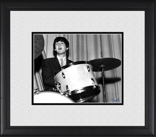 "Paul McCartney The Beatles Framed 8"" x 10"" Playing Drums Photograph"