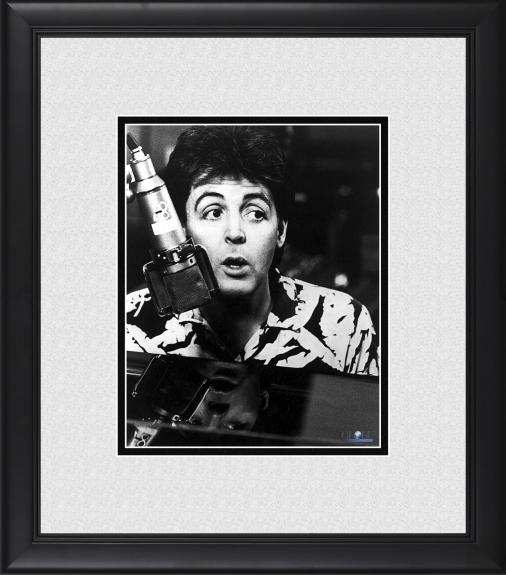 "Paul McCartney The Beatles Framed 8"" x 10"" Recording in Studio Photograph"