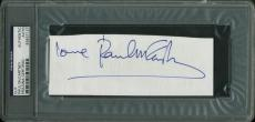 "Paul McCartney The Beatles ""Love"" Signed 2.25x6 Cut PSA/DNA Slabbed"