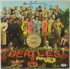 Paul Mccartney The Beatles Sgt Peppers Signed Album Cover W/ Vinyl PSA #V10662