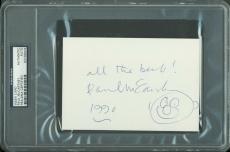 Paul McCartney The Beatles Signed 4x6 Index Card w/ Sketch PSA Slabbed