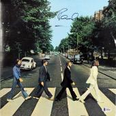 Paul McCartney The Beatles Signed Abbey Road Album Cover W/ Vinyl BAS #A10243