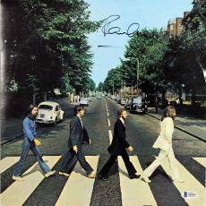 Paul McCartney The Beatles Signed Abbey Road Album Cover W/ Vinyl BAS #A10243