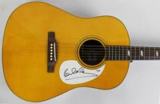 Paul Mccartney The Beatles Signed Acoustic Epiphone Guitar Psa/dna #t01547