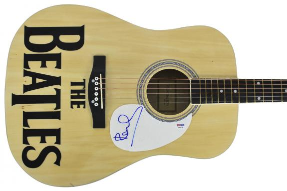 Paul McCartney The Beatles Signed Acoustic Guitar PSA/DNA #Q02570