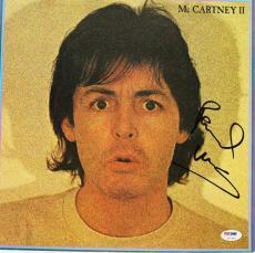Paul Mccartney The Beatles Signed Album Cover Auto Graded 10! PSA/DNA #U01344