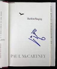 Paul McCartney The Beatles Signed Blackbird Singing Book PSA #AA01929