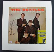 Paul McCartney The Beatles Signed & Matted Album Cover PSA #AB04453