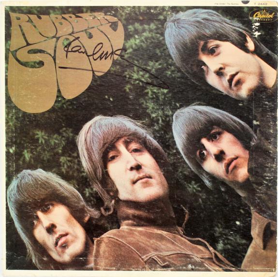 Paul McCartney The Beatles Signed Rubber Soul Album Cover JSA #Z73596