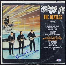 Paul Mccartney The Beatles Something New Signed Album Cover W/ Vinyl PSA #S04248