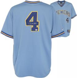 Paul Molitor Milwaukee Brewers Autographed Cooperstown Collection Jersey - Mounted Memories