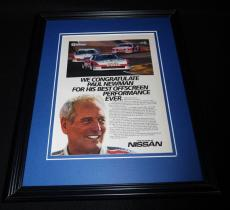Paul Newman 1985 Nissan 11x14 Framed ORIGINAL Vintage Advertisement
