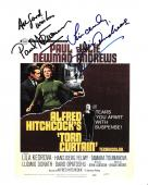 "PAUL NEWMAN as PROFESSOR ARMSTRONG and JULIE ANDREWS as SARAH SHERMAN in ""TORN CURTAIN"" Signed by Both - 8x10 Promo"