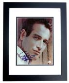Paul Newman Signed - Autographed 8x10 inch Photo BLACK CUSTOM FRAME - Guaranteed to pass PSA or JSA - Online Authentics Authenticity Sticker - Deceased 2008 - Legendary Actor