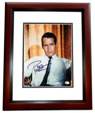 Paul Newman Signed - Autographed 8x10 inch Photo MAHOGANY CUSTOM FRAME - Guaranteed to pass PSA or JSA - Online Authentics Authenticity Sticker - Deceased 2008 - Legendary Actor