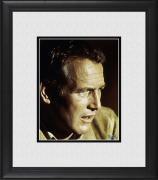 "Paul Newman Framed 8"" x 10"" in Tan Shirt Photograph"
