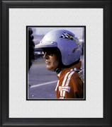 """Paul Newman Framed 8"""" x 10"""" Wearing Racing Helmet Photograph"""