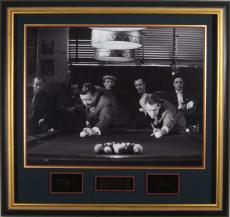 Paul Newman Jackie Gleason Laser Engraved Signature Display