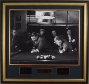Paul Newman & Jackie Gleason Laser Engraved Signature Display