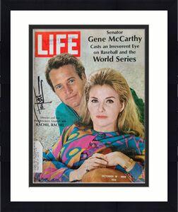 Paul Newman JSA Coa Signed 1968 Full Life Magazine