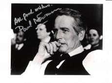 """PAUL NEWMAN - Movies Include """"EXODUS"""", """"THE HUSTLER"""" and """"BUTCH CASSIDY and the SUNDANCE KID"""" Passed Away 2008 - Signed 10x8 B/W Photo"""