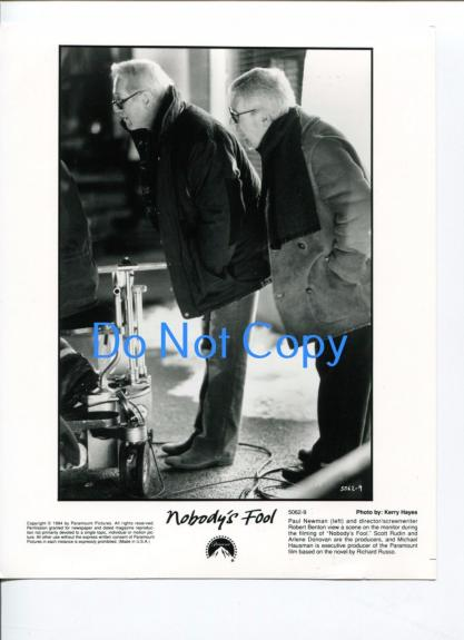 Paul Newman Robert Benton Nobody's Fool Original Movie Glossy Still Press Photo
