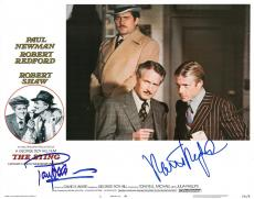 Paul Newman & Robert Redford Signed Authentic 11x14 Lobby Card PSA/DNA #AA01810