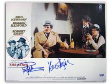 Paul Newman & Robert Redford Signed The Sting 11x14 Lobby Card (PSA/DNA) #M01253