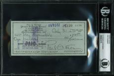 Paul Newman Signed 2.75x6 Personal Check Dated July 31 1973 PSA/DNA Slabbed
