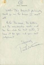 Paul Newman Signed 6.25X9 March 1955 3 Page Hand Written Letter PSA/DNA #V07957